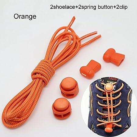 YHLVE - Cordones elásticos sin nudos para zapatillas, con sistema de bloqueo, 1 par, azul marino, Estándar: Amazon.es: Hogar