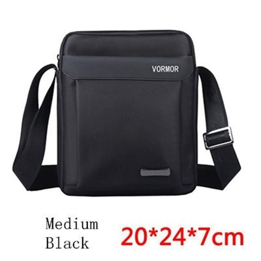 Color : Small Black Men Bag 2019 Fashion Man Shoulder Bags Oxford Casual Messenger Bag Business Male Crossbody Bags