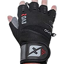 2016 Evo 2 Weightlifting Gloves with Integrated Wrist Wrap Support-Double Stitching for Extra Durability-Get Ripped with the Best Body Building Fitness Crossfit and Exercise Accessories