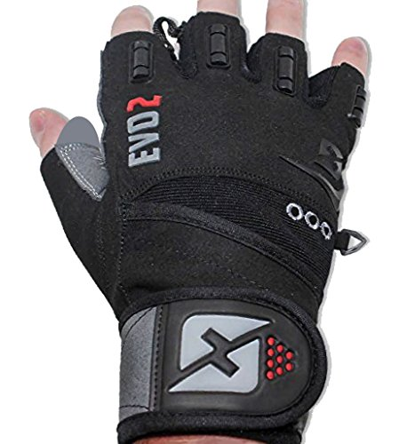 ting Gloves with Integrated Wrist Wrap Support-Double Stitching for Extra Durability-Get Ripped with the Best Body Building Fitness Crossfit and Exercise Accessories (Medium) (Wrist Gloves)