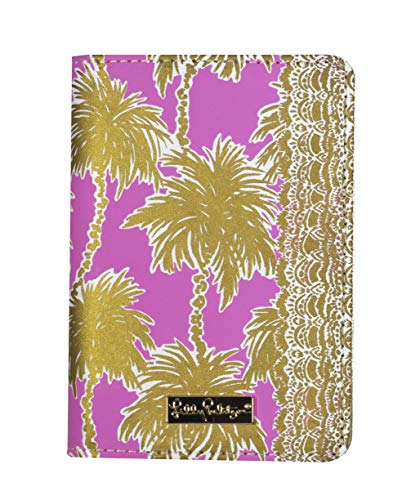 Lilly Pulitzer Passport Cover / Holder, Metallic Palms 10
