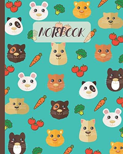 Notebook: Cute Gerbils Face Cartoon (Volume 4) - Lined Notebook, Diary, Track, Log & Journal - Gift for Boys Girls Teens Men Women (8'x10' 120 Pages)
