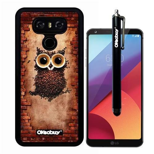 G6 Case  Coffee Bean Owl Case  Oksobuy R  Ultra Thin Soft Silicone Case For Lg G6   Coffee Bean Owl