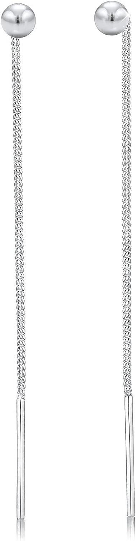 Elli Pendientes colgantes para mujer minimalista en plata de ley 925