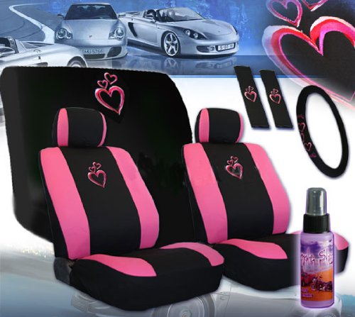 compare price heart seat covers for cars on. Black Bedroom Furniture Sets. Home Design Ideas