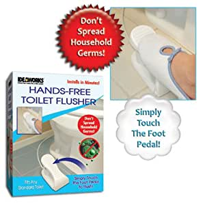Hands Free Toilet Flusher, Foot Pedal Toilet Flush Adapter