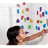 Pack of 84 pcs - Kids Educational Bathroom Toy Baby Alphabet Toys Doopo Non-toxic EVA Letters & Numbers w/ Bath Toy Suction Mesh Bag Organizer