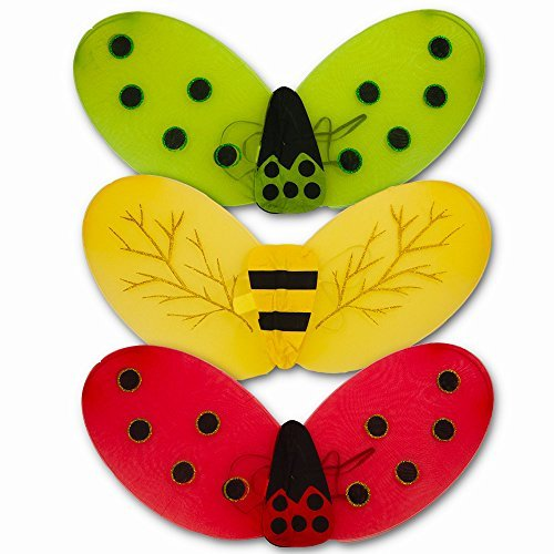 Fairy Wings for Girls (Set of 3 - Angel, Ladybug, Bumble Bee Wings) … - Bumble Bee Wings