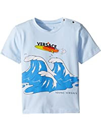 Kids Mens Short Sleeve Wave Graphic T-Shirt (Infant) · Versace