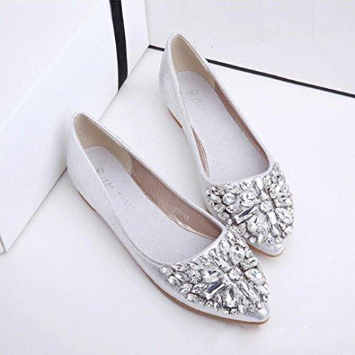 5 5 silver dress shoes - 9