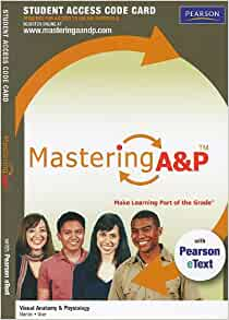 As of October , you cannot get a free access code to Mastering A&P, which allows you to access course materials online for the Anatomy and Physiology college textbook. You can purchase an access code through the Pearson MyLab And Mastering website. This digit access code is often included with the purchase of new textbooks.