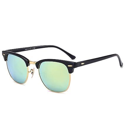 Chlyuan - Gafas de Sol polarizadas de Aviador de Color Azul ...