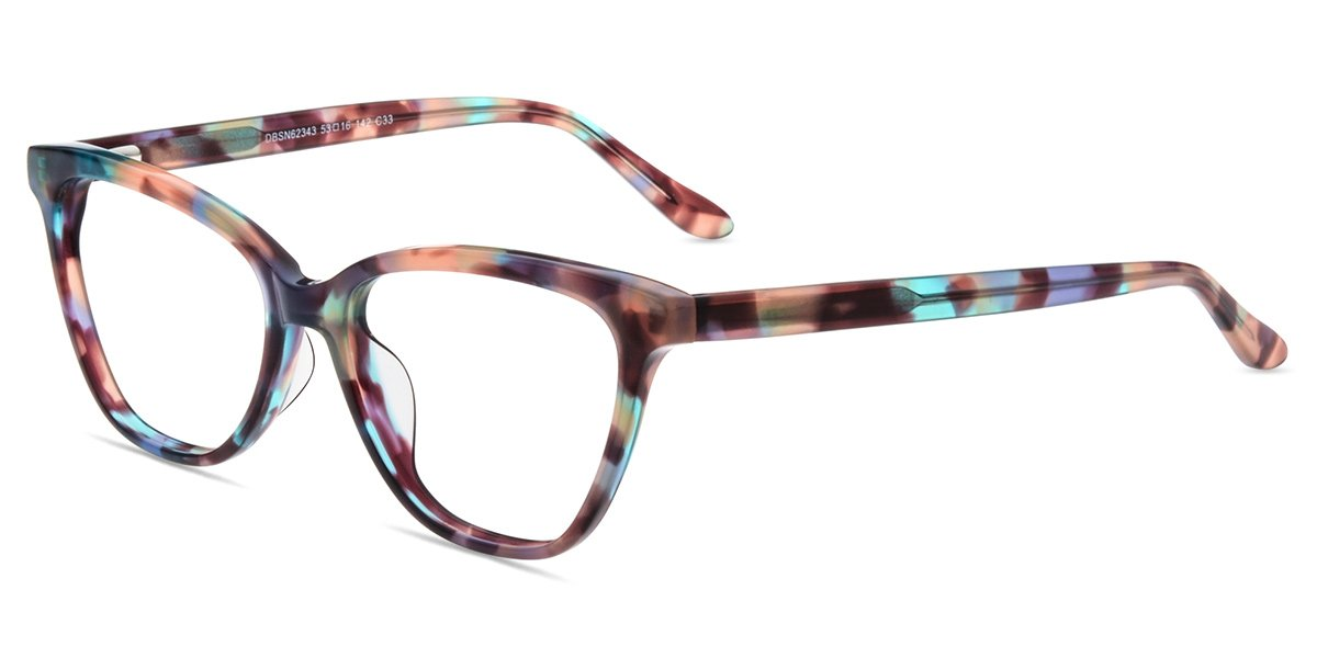 Firmoo Cat Eye Blue Light Blocking Glasses, Women Computer Eyeglasses, Anti Eyestrain Vintage Cateye Pattern Eyewear Frame by Firmoo