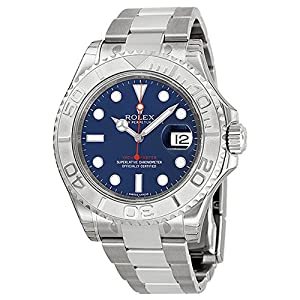 Best Epic Trends 51kPOgz7v1L._SS300_ Rolex Yachtmaster Steel and Platinum Blue Dial Mens Watch 116622BLSO