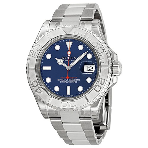 Watches Platinum Rolex (Rolex Yachtmaster Steel and Platinum Blue Dial Mens Watch 116622BLSO)