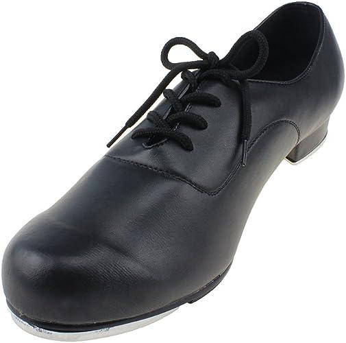 MSMAX Boys Flex Tap Dance Shoes Glossy