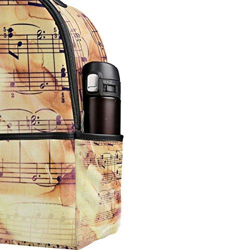 COOSUN Music Notes Leichte Leinwand Kinder Schulrucksack Buch Tasche für Jungen Mädchen