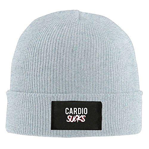 (WPER WANG Cardio Sucks Casual Fashion New Winter Wool Hats Knitted Twist Cap Thick Beanie Hat Ash)