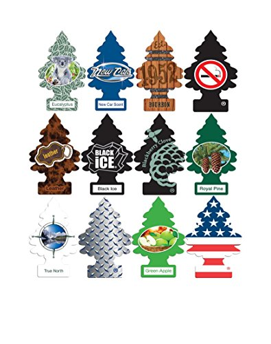 Little Trees Car Air Freshener Masculine Super Variety pack 12 - Ice Tree