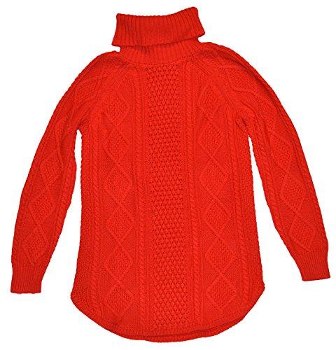 GAP Maternity Red Cableknit Turtleneck Wool Blend Sweater XL - Gap Turtleneck