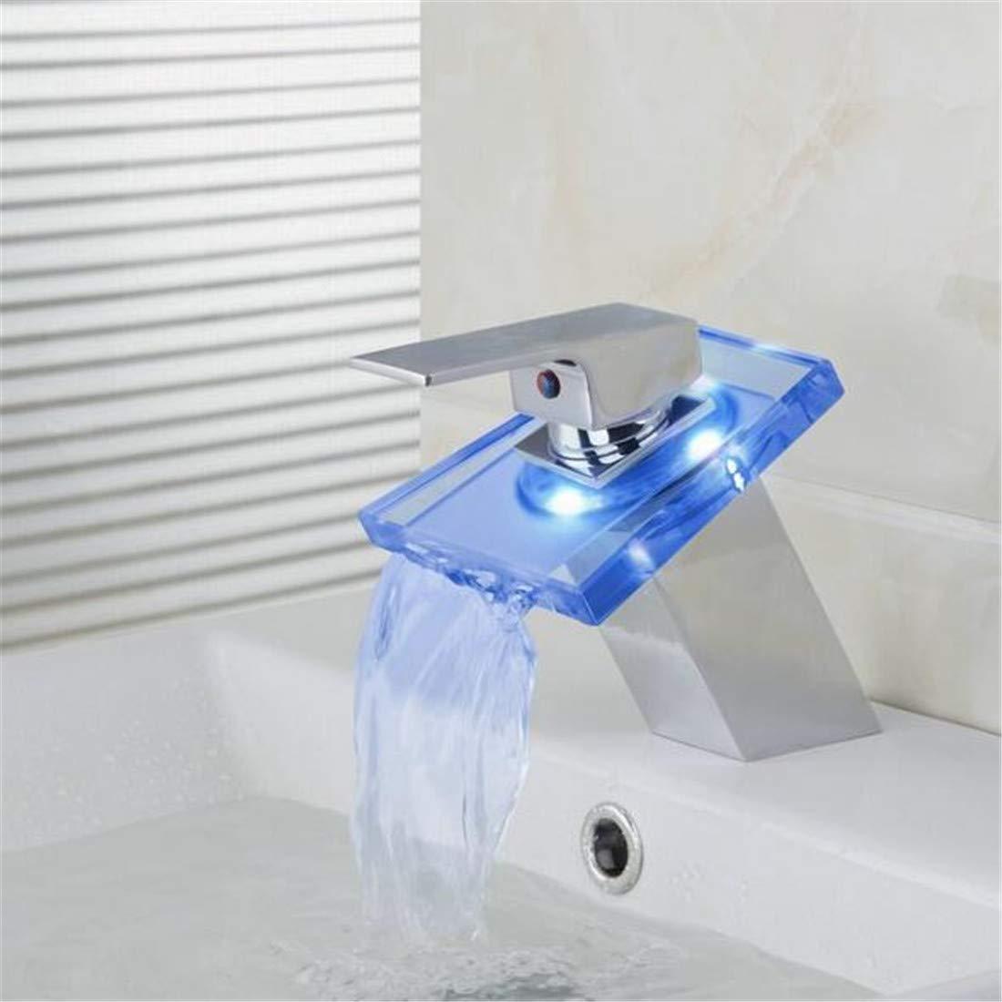 Mischbatterie Brause Drehbar Bad Spültischwasserfall Bad Becken Mischbatterie Wasserhahn Chrom Poliert Messing Chrom Badarmaturen Mischbatterien