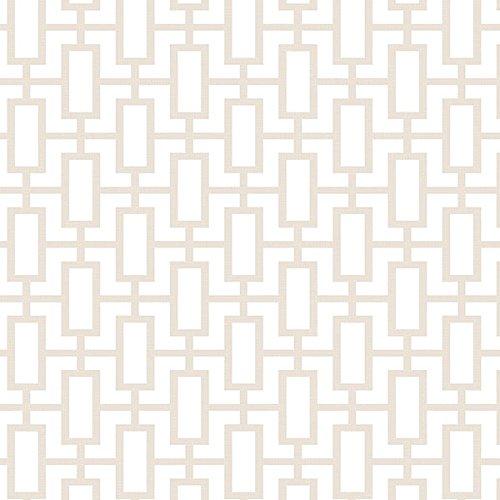 Manhattan comfort NWSH34509 Sheffield Series Vinyl Geometric Link Design Large Wallpaper Roll, 20.5