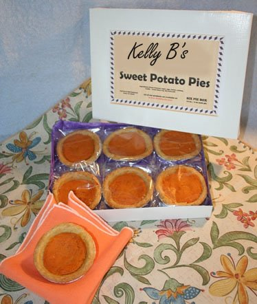 Sweet Potato Pie - Sweet Potato PIE / Single Serving / Each Pie is a Delicious 2 Ounces / Individually Wrapped for Freshness / Six Pies Per Attractive Box