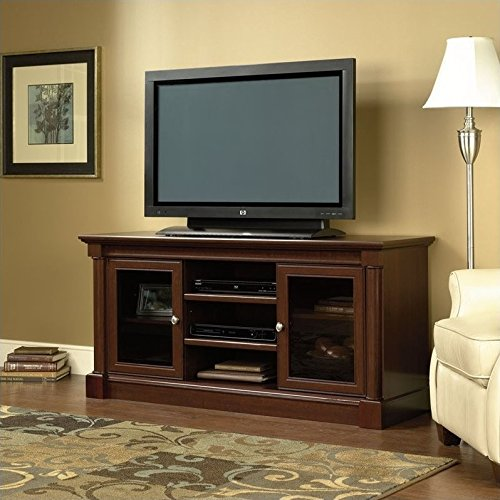 """Sauder 411865 Palladia Entertainment Credenza, For TVs up to 60"""", Select Cherry finish"""