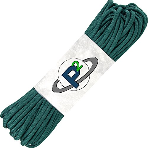 PARACORD PLANET Mil-Spec Commercial Grade 550lb Type III Nylon Paracord 100 feet Hunter Green