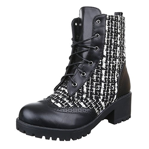 Ital-Design - Botas Militar Mujer negro