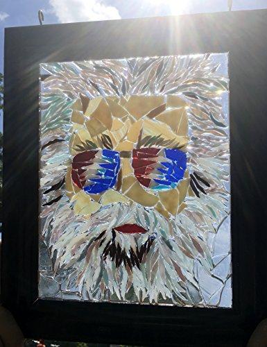 Jerry Garcia stained glass window art suncatcher by Mountain Mosaics (Image #5)