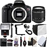 Canon EOS Rebel T6 18MP Digital SLR Camera with 18-55mm EF-IS STM Lens , SF-4000 Slave Flash and Accessory Kit