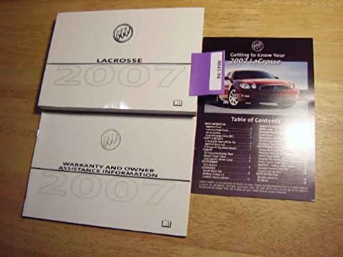 amazon com 2007 buick lacrosse owners manual buick books rh amazon com 07 buick lacrosse owners manual 07 buick lacrosse owners manual