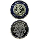 St Michael Protect Us Police Prayer Challenge Coin - Individual