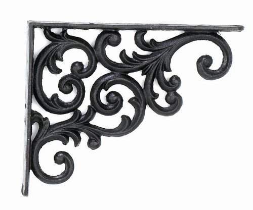 Upper Deck Bracket Shelf, 9.375-Inch Deep, Rustic Antique Finish