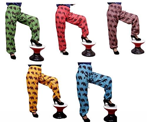5Pcs-25pcs Elephant Printed Trouser Pants Wholesale Lot by Krishna Mart India