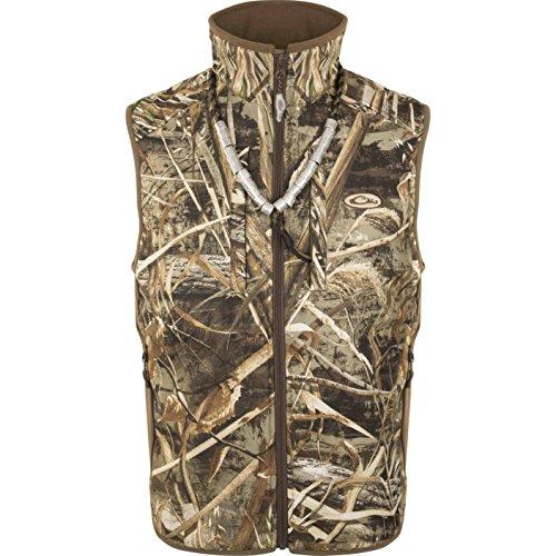 Drake Fleece Vest - Drake EST Camo Windproof Tech Vest (Max5, X-Large)