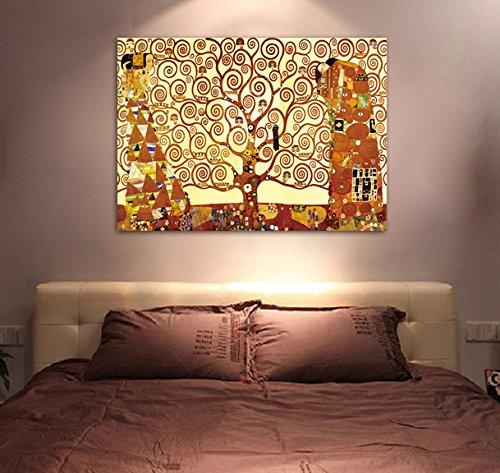 Framed Tree Of Life By Gustav Klimt Canvas Art Picture
