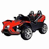 Uenjoy 2 Seats Kids Car 12V Ride On Racer Cars w/Remote Control,Spring Suspension Wheels,4 Speeds,LED Lights,Music,Red