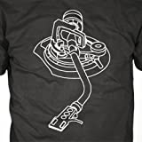 DJ T-Shirt - Turntable Tone Arm, Snake, Technics, Records, Vinyl
