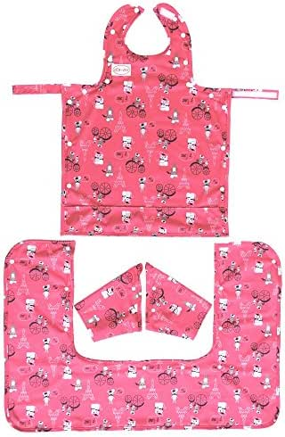 BIB-ON Plus, A New, Full-Coverage Bib and Apron Combination with Detachable Sleeves and Apron Extension for Infant, Baby, Toddler. Ages 0 to 4. One Size Fits All! (French Mice (BIB-ON +))