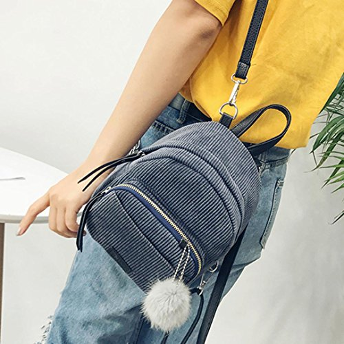 Bovake - Bolso mochila  de poliéster para mujer gris
