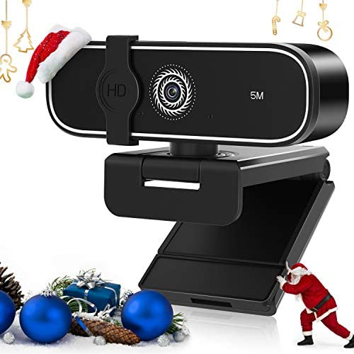 Webcam with Microphone, 2K HD Web Camera Streaming Webcam with Auto Light Correction, USB Computer Webcam for/Desktop/Laptop/PC Video Conferencing/Gaming/Zoom, Plug and Play