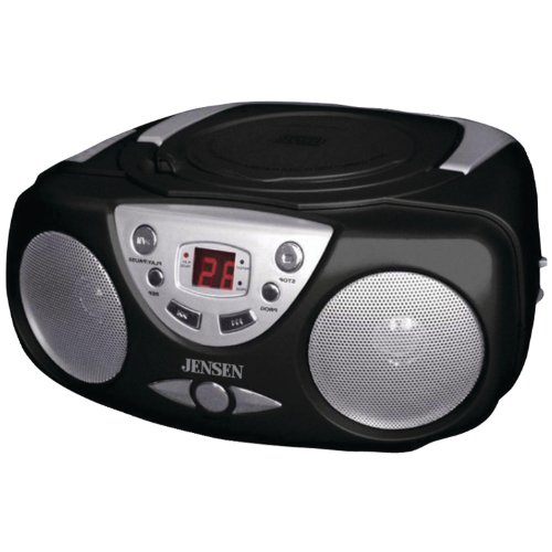 """Jensen CD472B Sport Portable Stereo CD Player with AM/FM Stereo Radio Bass Boost and Aux Inputs"""""""