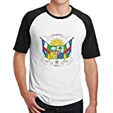 Coat of Arms of The Central African Republic Mens Hip Hop Cotton 3D Print Short Sleeve T-Shirts
