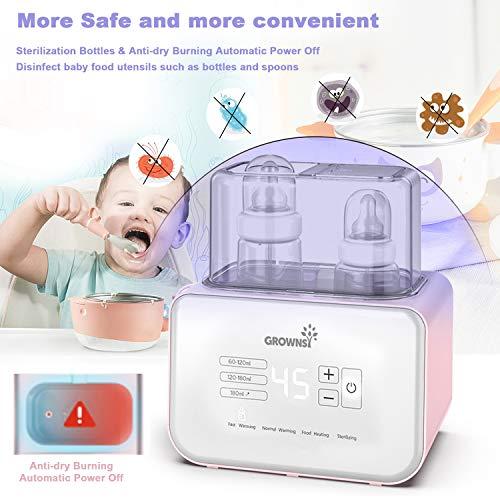 Gourmia Jr. Digital Baby Bottle Sterilizer and Dryer, 8-Bottle Capacity, Digital Display, HEPA Filter, JBS200, ETL-Certified