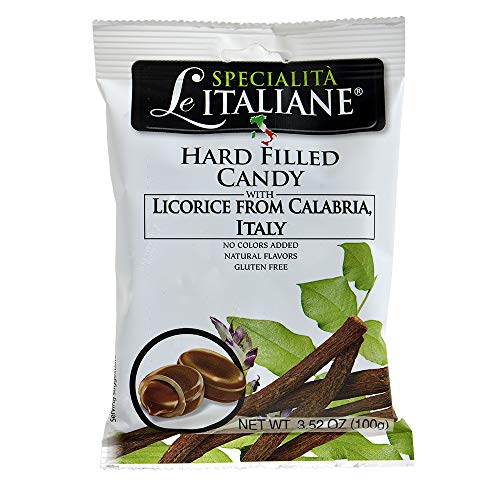 Serra Hard Filled Candy with Licorice from Calabria, 3.52 Ounce (Pack of 12)