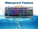 CHONCHOW Led Backlit Wired Gaming Keyboard Mouse Combo Mechanical Feelling Rainbow Illuminated Character Effective 19 Anti-ghosting Keys for Gamers Window 7 8 10 Resberry Pi Mac Linux(Combo)