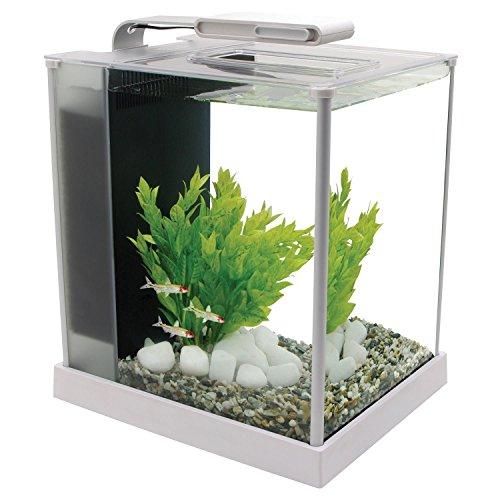 Fluval 10517 Spec III Aquarium Kit, 2.6 gal, White