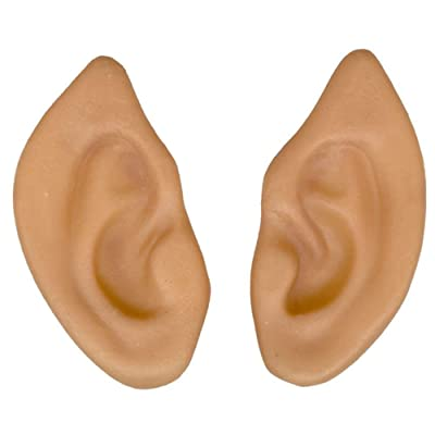 Forum Novelties Latex Pointed Elf Fairy Alien Hobbit Ears Cosplay LARP Prosthetic Beige: Toys & Games